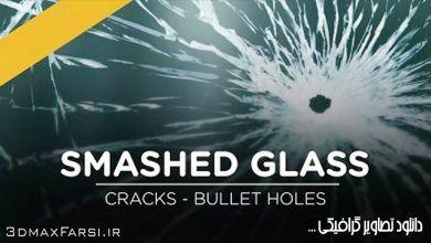 دانلودعکسشیشه شکستهبرای فتوشاپSmashed Glass Effects Pack