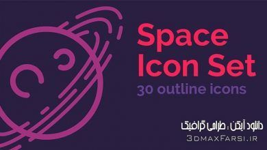 Photo of دانلود مجموعه آیکون خطی فضا ایلوستریتور Space Outline Icons