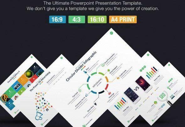قالب پاورپوینت پرزنتیشن بازاریابی، پروفایل شرکتی، شبکه اجتماعی Stampede - Multipurpose Powerpoint Template