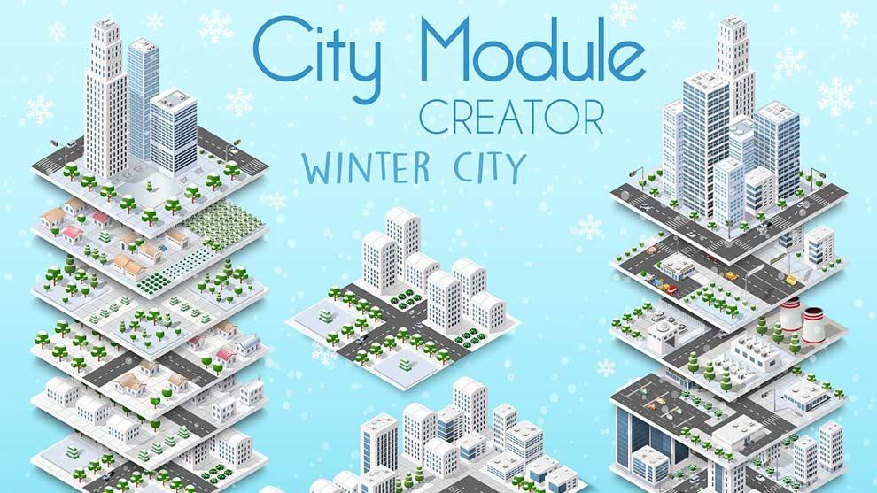 دانلود وکتور ساختمان برای فتوشاپ ایلوستریتورcity bundle module creator