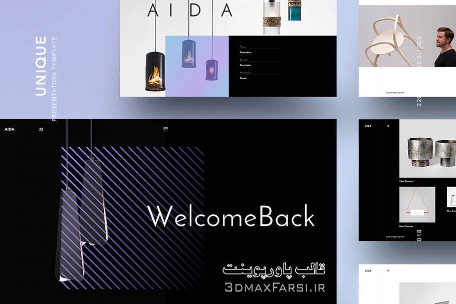 دانلود رايگان فايل قالب پاورپوینت پرزنتیشن AIDA creativemarket AIDA Powerpoint Template