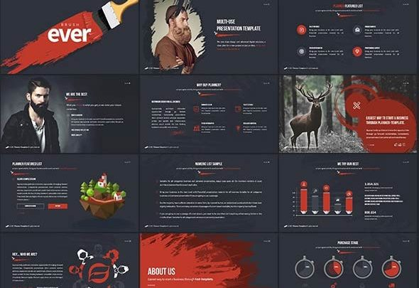 دانلود قالب پاورپوینت پرزنتیشن کسب و کار سازمانی استفاده شخصی graphicriver: Ever - Multipurpose Presentation Template