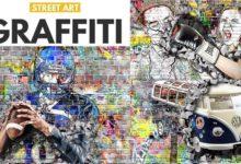 دانلود اکشن فتوشاپ گرافیتیGraffiti Effect with Pop Up Photoshop Action
