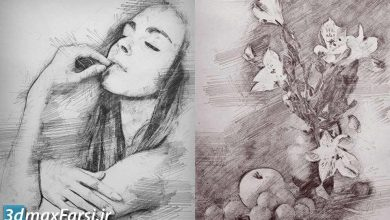 دانلود اکشن فتوشاپ : تبدیل تبدیل عکس مداد و ذغال | گرافیک ریور graphicriver : Pencil Sketch Photoshop Action
