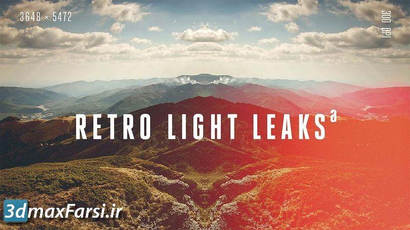 پکیج کامل افکت نور فتوشاپ وینتج رترو (عکس های قدیمی) Retro Light Leaks