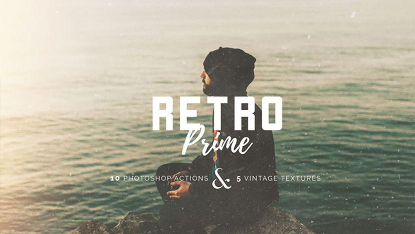 دانلود اکشن فتوشاپ استایل قدیمی Retro Prime photoshop action