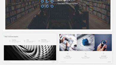 قالب پاورپوینتدانلودقالب پاورپوینت ساده :زیبا، آماده و رایگانGraphicriver simplex powerpoint