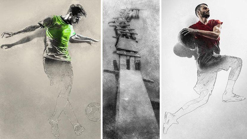 اکشن فتوشاپ اسکیس با افکت برجسته سه بعدیSketch Photoshop Action : With 3D Pop Out Effect