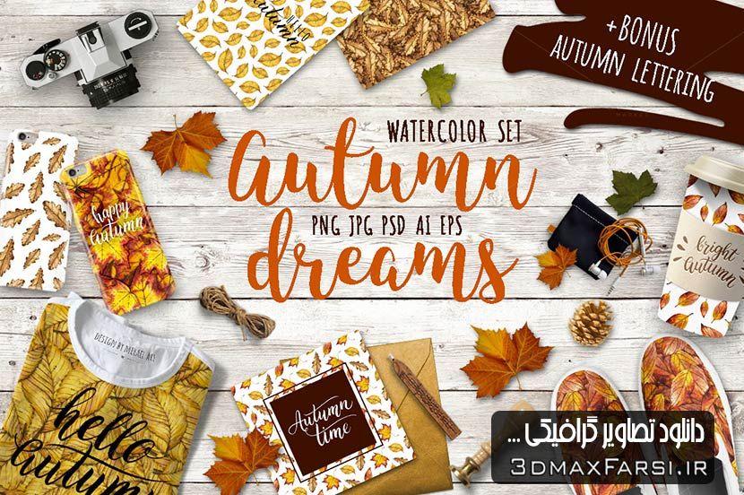 دانلود تصاویر پس زمینه پاییز | طرح گرافیکی فصل پاییز