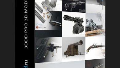 دانلود آبجکت اسلحه کلاسیک و مدرن 3DDD/3DSky – Pro Weapon 3d-models