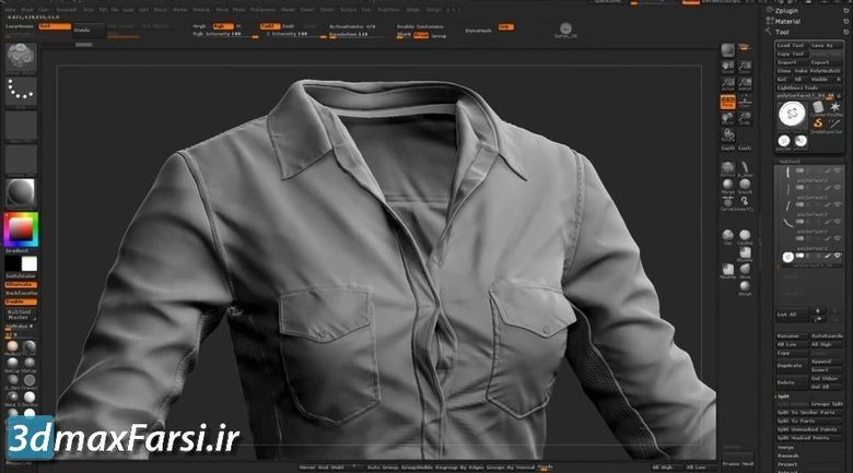 آموزش طراحی لباس زیبراش مارلوس دیزاینر Zbrush Marvelous-Designer