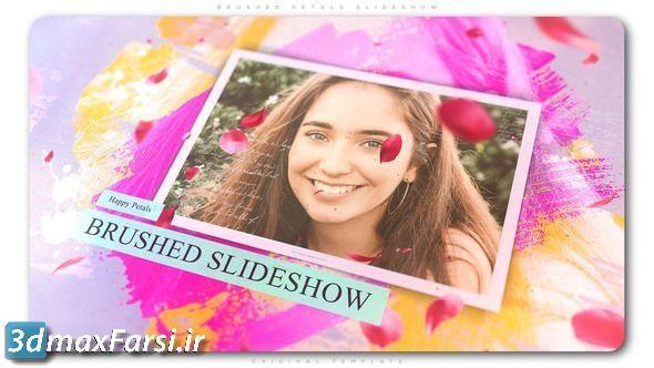 دانلود پروژه اسلاید شو افترافکت عاشقانه و خاطره انگیز Brushed Petals Slideshow