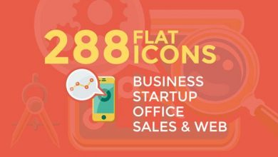 Photo of دانلود آیکون موشن گرافیک videohive Business & Startup Flat Icons