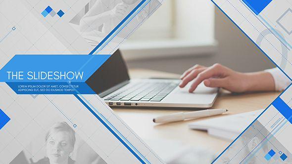 پروژه افتر افکت تبلیغاتی شرکتی Clean Corporate Slideshow