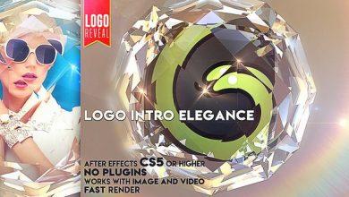 دانلود پروژه افترافکت نمایش لوگو حرفه ای videohive Logo Intro Elegance