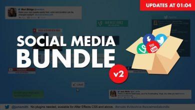 پروژه افترافکت شبکه اجتماعیvideohive : Social Media Bundle