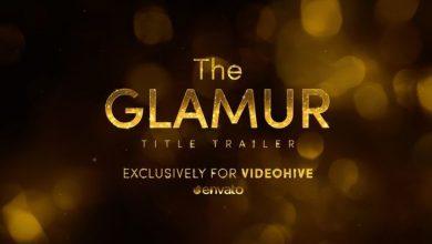 دانلود قالب آماده افترافکت تایتل طلایی براق VideoHive The Glamur Title Trailer