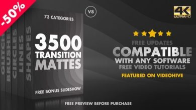 دانلود موشن گرافیک ترانزیشن مت ویدیوییUltimate Transition Mattes Pack