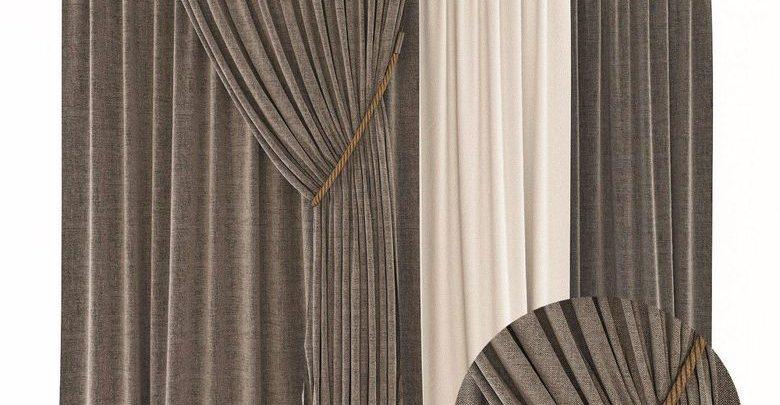 آبجکت پرده اتاق خواب و پذیرایی 3DDD/3DSky PRO Curtains 3D Models Bundle