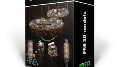 دانلود باندل آبجکت لوستر و روشنایی 3DDD PRO models – Bundle 6