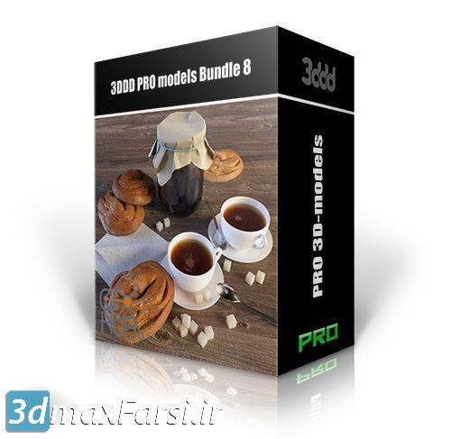 باندل آبجکت دکوراسیون داخلی معماری (تری دی مکس + ویری) 3DDD PRO models