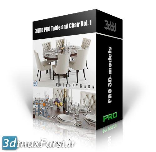 دانلود آبجکت سه بعدی میز و صندلی 3DDD PRO Table and Chair Vol. 1