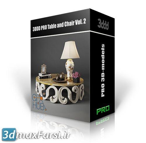 دانلود مدل میز و صندلی های غذاخوری 3DDD PRO Table and Chair Vol. 2