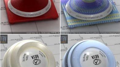 مجموعه متریال نیمه شفاف ویری Vray SSS Special Materials Bundle