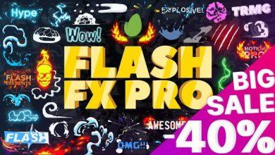 Photo of ساخت انیمیشن کارتونی (المان و پروژه آماده افترافکت) Flash FX Pro