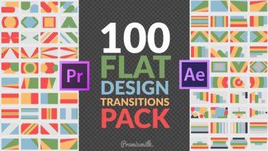 دانلود پروژه پریمیر ترانزیشن فلت Flat Design Transitions Pack