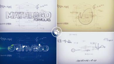 پروژه افترافکت نمایش لوگو با محاسبات ریاضی Math Formulas Logo Reveal