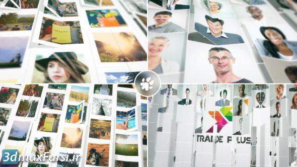 پروژه افتر افکت نمایش عکس لوگو به صورت تا شده Multi Images Fold Reveal