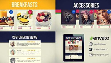 پروژه افترافکت معرفی وب سایت فروشگاه آنلاین Online Store Promo