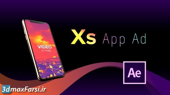 دانلود پرومو تیزر تبلیغاتی اپلیکیشن (پروژه افترافکت) Phone XS App Ad