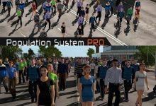 دانلود آبجکت انسان یونیتی سه بعدی Population System PRO