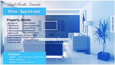 پروژه افترافکت نمایش آژانس مسکن ، مشاور املاک Real Estate Display
