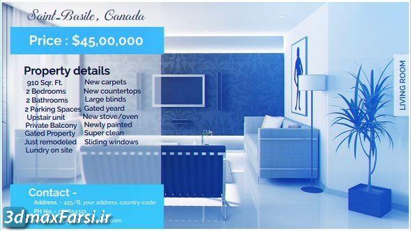 دانلود پرومو تیزر تبلیغاتی آژانس مسکن ، مشاور املاک Real Estate Display