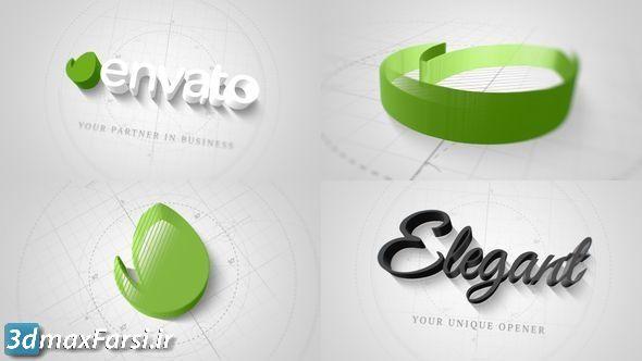 دانلود پروژه آماده افتر افکت نمایش لوگو videohive: Technical Elegant Logo 3D Opener