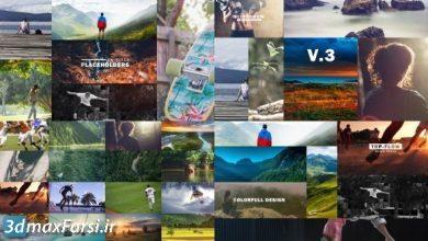 پروژه افترافکت اسلایدشو عکس کودکانه ورزشی سفر videohive: The Slideshow