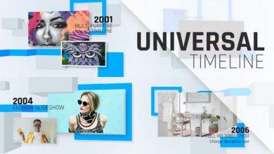 دانلود پروژه افترافکتتایم لاین اسلایدشو با قالب Universal Timeline