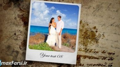 دانلود رایگان دانلود پروژه آماده افتر افکت نمایش عکس عروسی با قالب نامه و کارت پستال videohive Wedding Slideshow