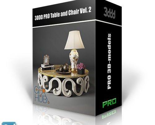 دانلود آبجکت میز و صندلی اداری 3d max (کلاسیک و مدرن)