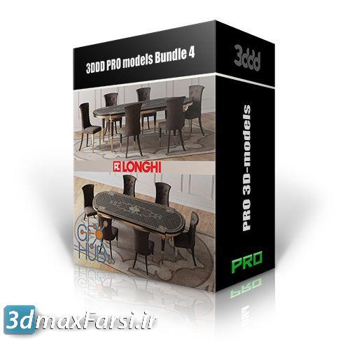 دانلودآبجکت میز و صندلیرستوران 3DDD PRO Table and Chair Vol. 4