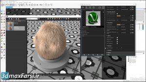 شبیه سازی چمن با ویری فور V-Ray objects Fur