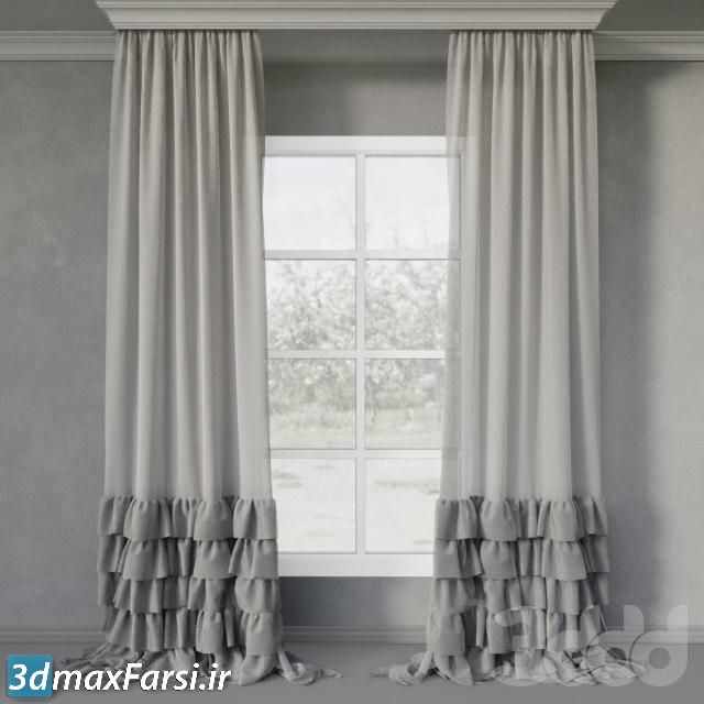 آبجکت پرده اتاق خواب 3DDD/3DSky PRO Curtains 3D Models Bundle