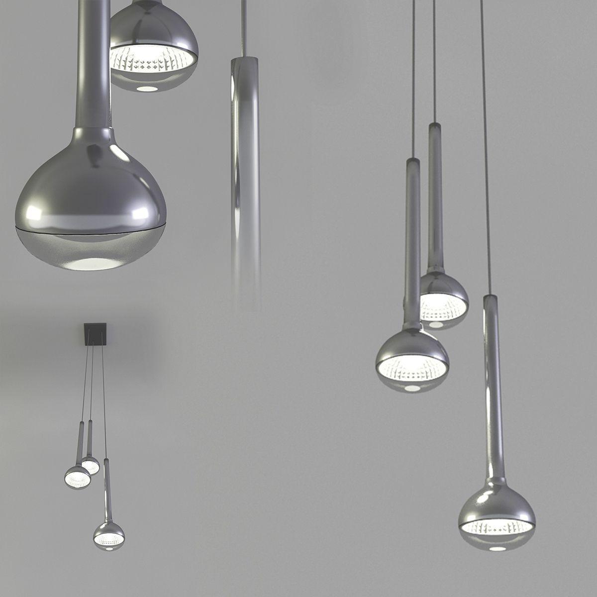 دانلود رایگان مدل سه بعدی لوستر تری دی مکس 3DDD - Ceiling Lamp