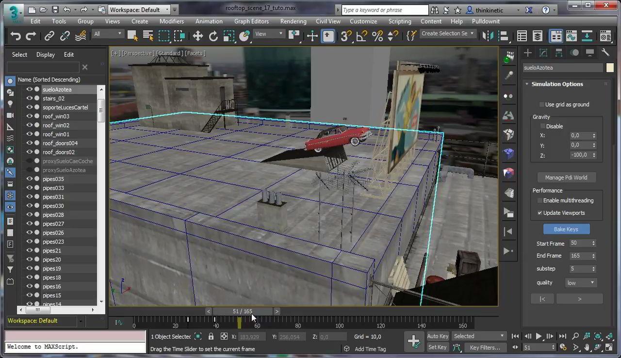 آموزش پلاگین شکستن و خرد شدن تری دی مکس مایا Pulldownit 3d Max انیمیشن سازی مکس