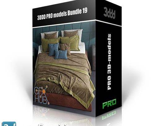دانلود باندل آبجکت سبک تری دی مکس ویری 3DDD PRO models – Bundle 19