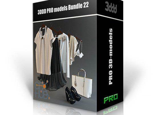 دانلود آبجکت سبک تری دی مکس وی ری 3DDD PRO models – Bundle 22