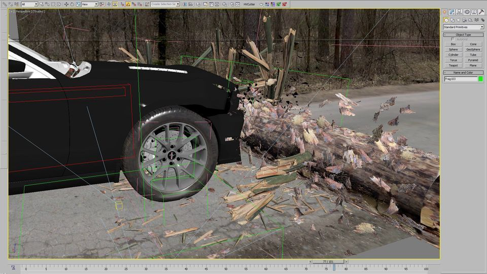 آموزش شبیه سازی حرفه ای تصادف ماشین : 3ds Max, vray render, Nuke